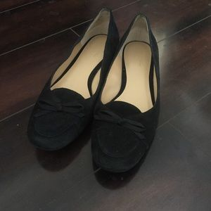 Ann Taylor LOFT Leather Black Flats Loafers